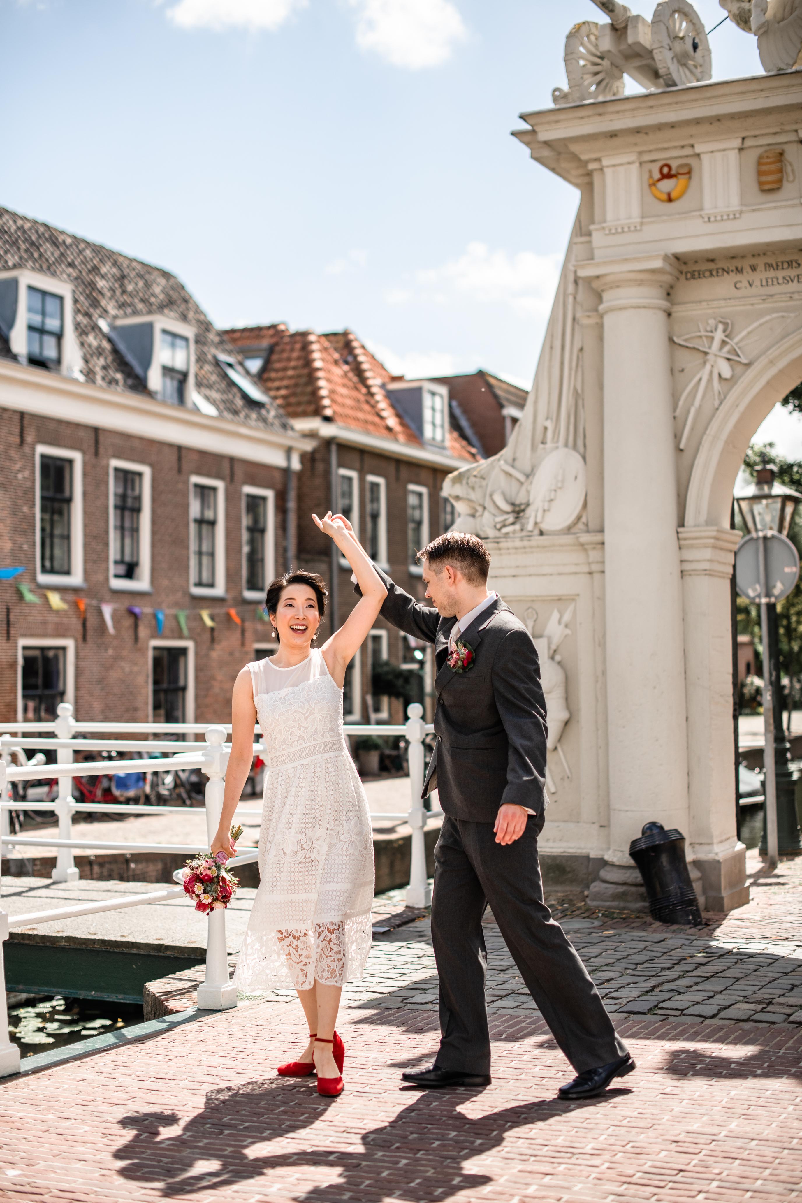 Trouwfotograaf binnenstad Leiden