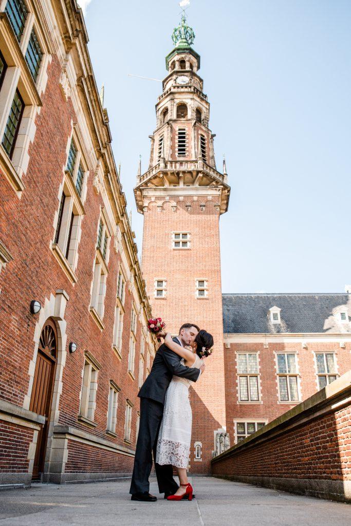 Trouwfoto's stadhuis Leiden